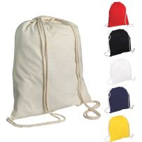 Pack of Five Cotton Drawstring Rucksacks